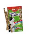 Recompense pentru pisici, Sanal Sticks Miel si Orez, 3 x 15 g